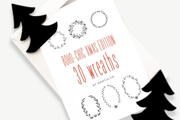 30 Christmas Vector Wreaths