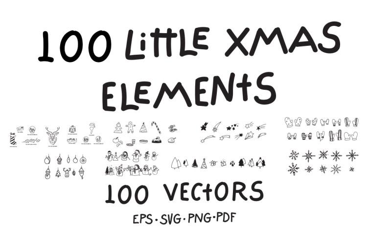 100 Little Xmas Elements