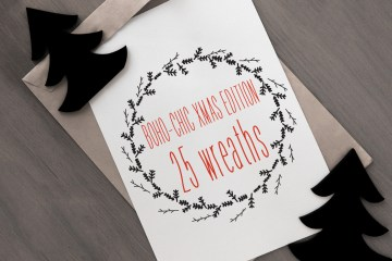 25 Christmas Vector Wreaths