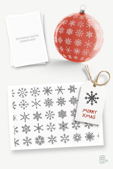 50 SVG Vector Snowflakes