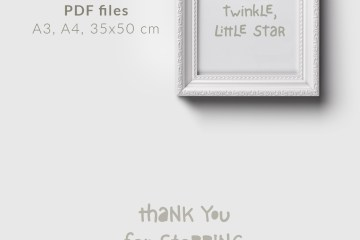 Twinkle Little Star, nursery printable