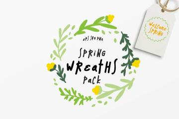 10 Spring Wreaths Vector Pack