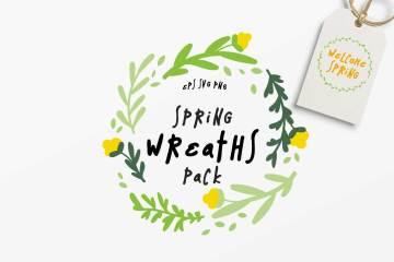 10 Spring Wreaths Vector Pack