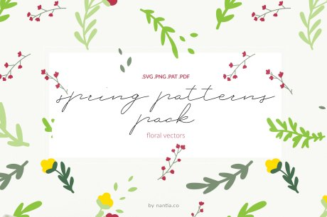 Spring Patterns Floral Vectors
