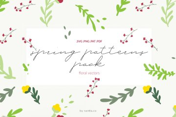 Spring Patterns Floral Vectors