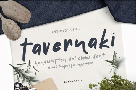 Tavernaki Handwritten Delicious Font