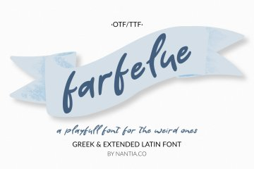 Farfelue, playful font for the weird ones