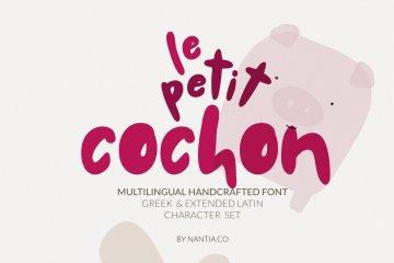 Chubby Font Le Petit Cochon