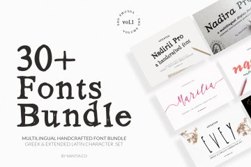 30+ Greek Fonts Bundle Vol. 1 By Nantia.co30+ Greek Fonts Bundle Vol. 1 By Nantia.covvv
