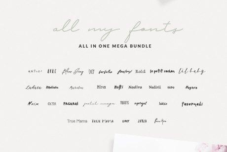 30+ Greek Fonts Bundle By Nantia.co