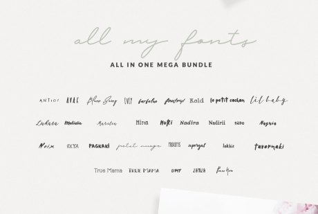 30+ Greek Fonts Bundle By Nantia.co