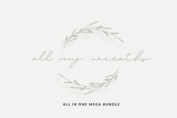 330 Vector Wreaths Mega Bundle