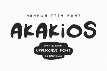akakios uppercase font
