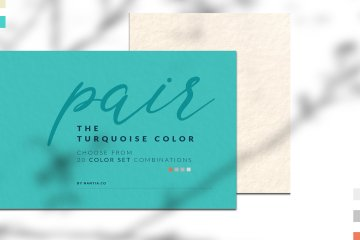Turquoise Color Palette collection