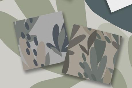 Camouflage Floral Pattern Set