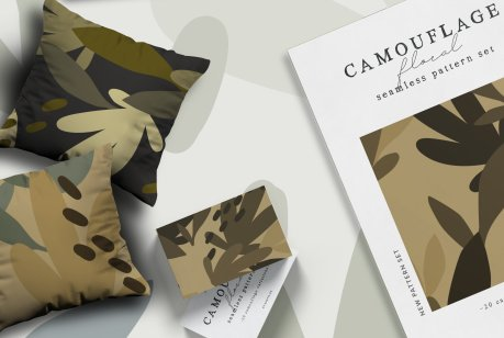 Camouflage Floral Pattern Setvv