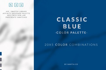 Classic blue Color Palette collection