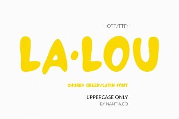 LALOU Greek Latin Chubby Font