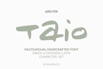 Taio Handwritten Greek Font