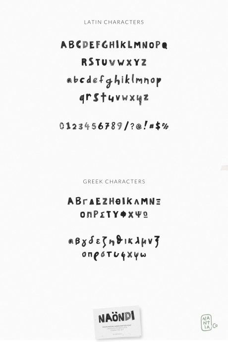 Naondi Decorative Greek Font