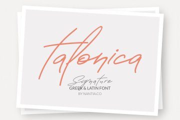 Greek Signature Font Talonica