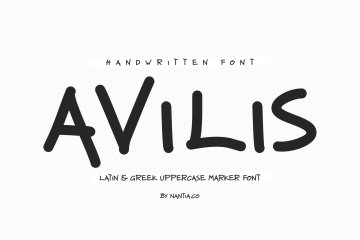 Avilis Uppercase Latin & Greek Font