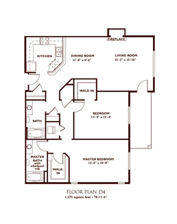 2 Bedroom Floorplans