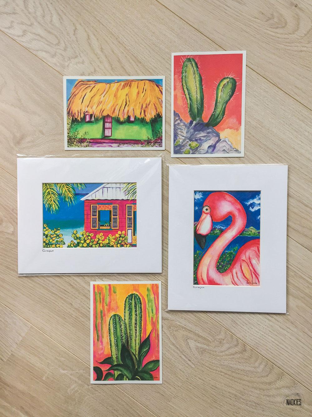nen-sanchez-kaarten-passe-partout-gallery-curacao-souvenirs-naokies