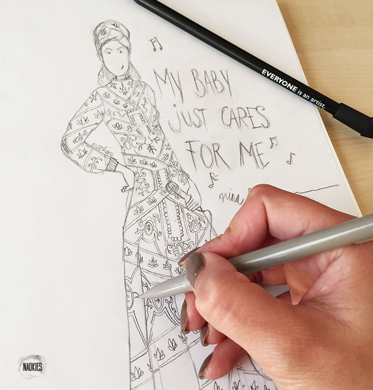Illustratie-nina-simone-sketch-studio-naokies