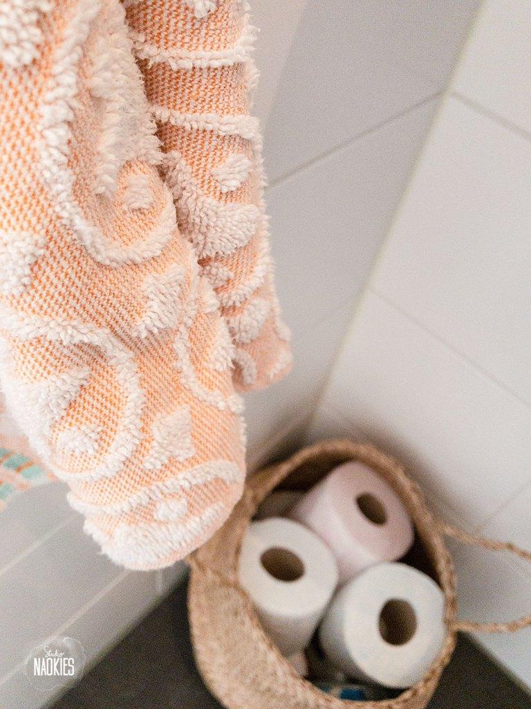 flamingo behang arte makeover styling toilet gastendoekjes studio naokies