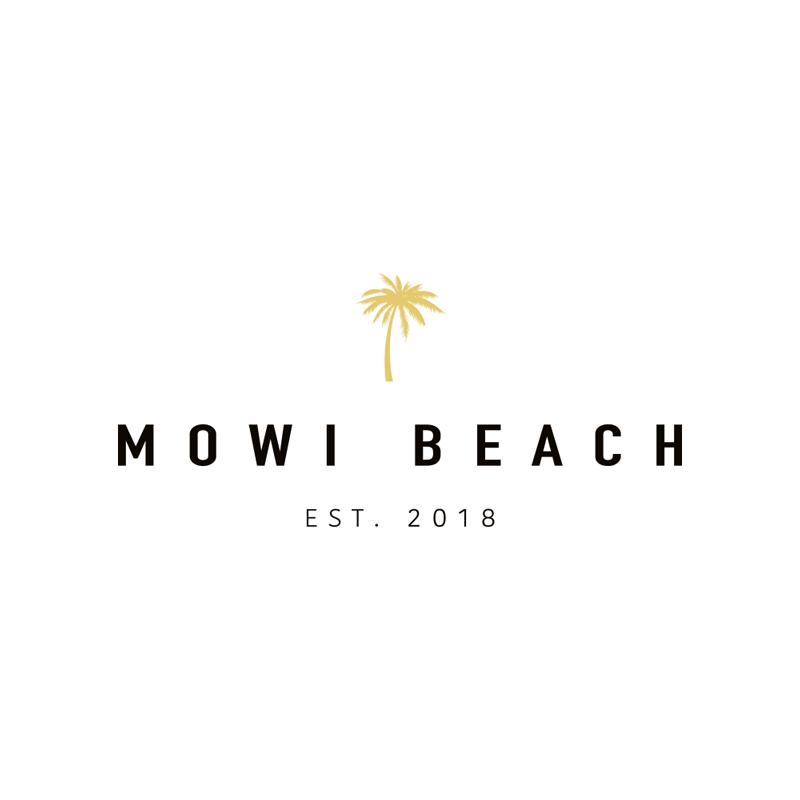 Branding Mowi Beach logo ontwerp beachwear Studio Naokies