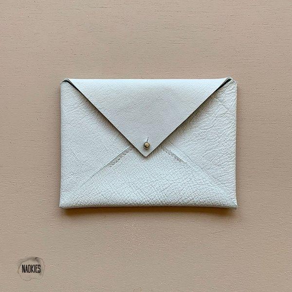 Leren envelop wit bruiloft geboorte Studio Naokies