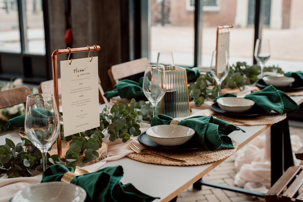 intiem trouwen tijdens corona tafelstyling menukaart Studio Naokies