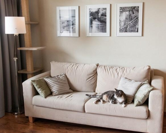 lniane poduszki na kanapę