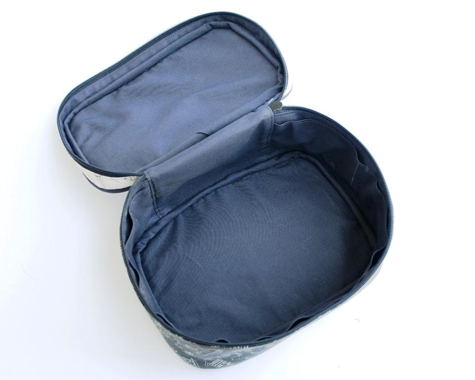 kosmetyczka kuferek w kotki kieszonki