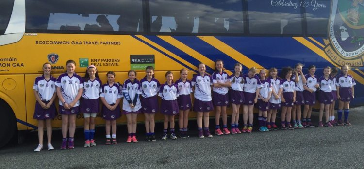 St. Dominics U-12 Camogie team play in Croke Park