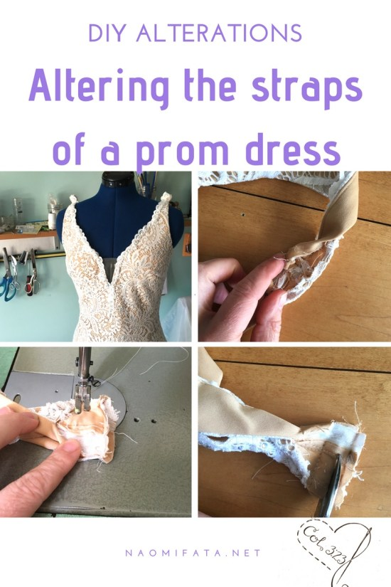 Altering The Straps Of A Prom Dress Sewing Lessons Home Business