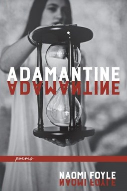 Cover of Adamantine: a young woman holding an hourglass