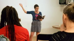 Naomi Foyle reading from Adamantine in New York City