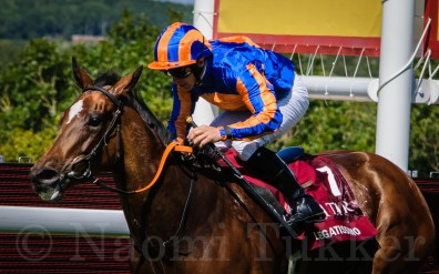 Legatissimo after winning the Qatar Nassau Stakes (British Champions Series) (Gr.1) (FILLIES & MARES) at Glorious Goodwood