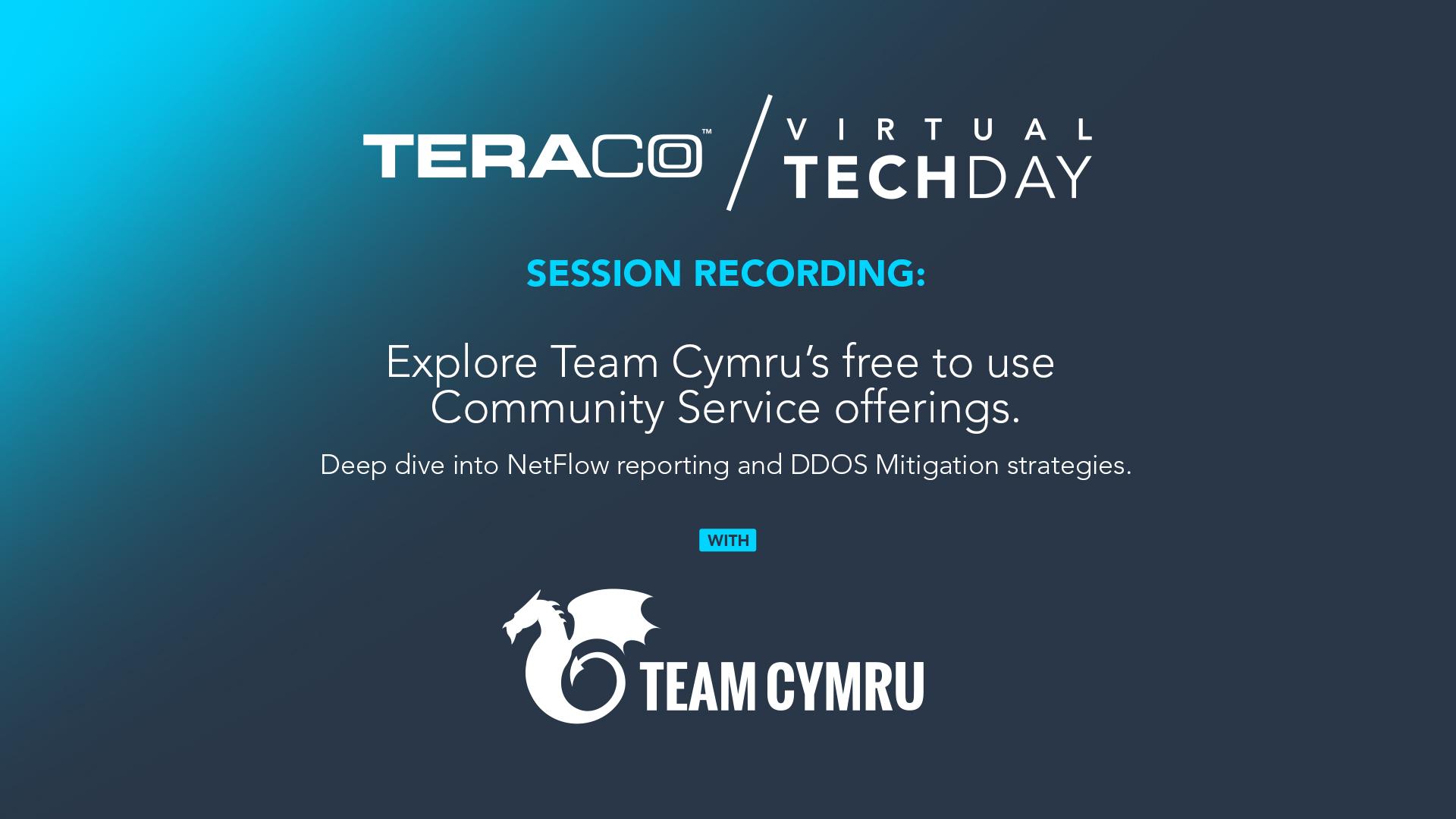 Teraco Tech Day | Team Cymru