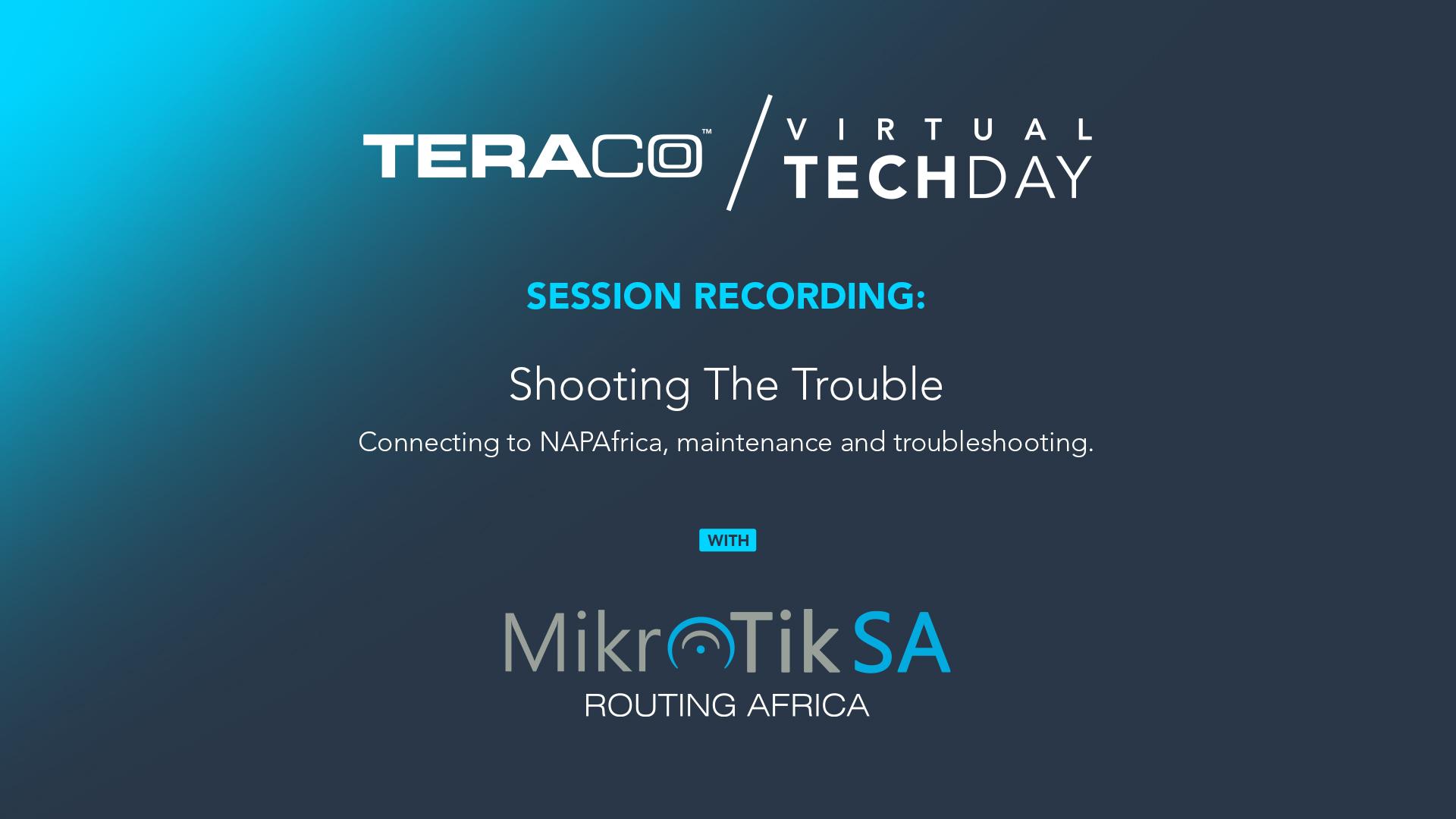 Teraco Tech Day   MikroTikSA