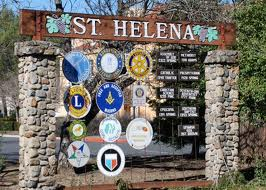 St Helena welcome sign, Napa Valley