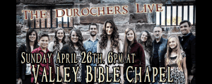 Durocher family concert Sun., April 26