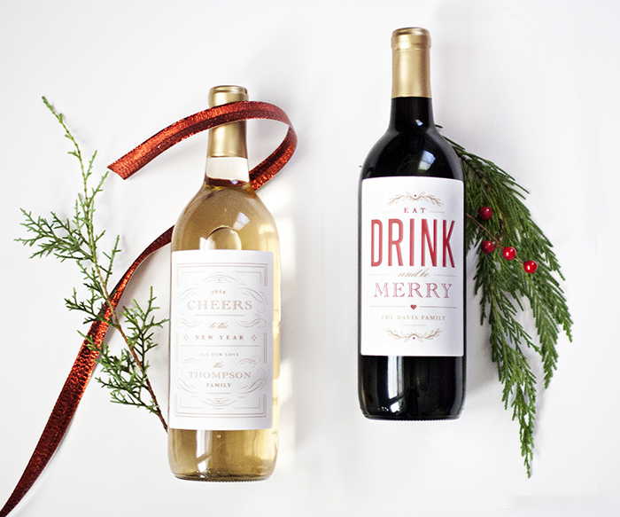 Holiday Wine Label Printable National Association Of Professional Child Photographers