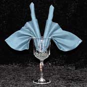 The Candle Fan Goblet Napkin Fold