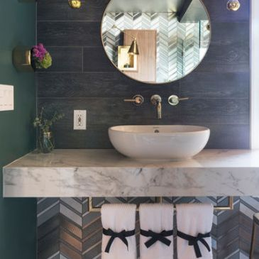 Trending This Season: 9 Splash of Color Bathroom Designs