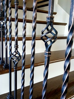 Wrought Iron Metallic Finishes Naples Hollywood Pompano Beach Fl | Wrought Iron Rope Handrail | Twisted | Rope Twist | Porch | Brackets | Unlacquered Brass