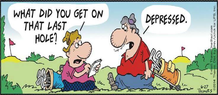 golf joke depressed golfing jokes club naplesgolfguy golfhumor social beer woods wife guy