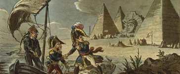 La fuite de Bonaparte. Caricature anglaise.